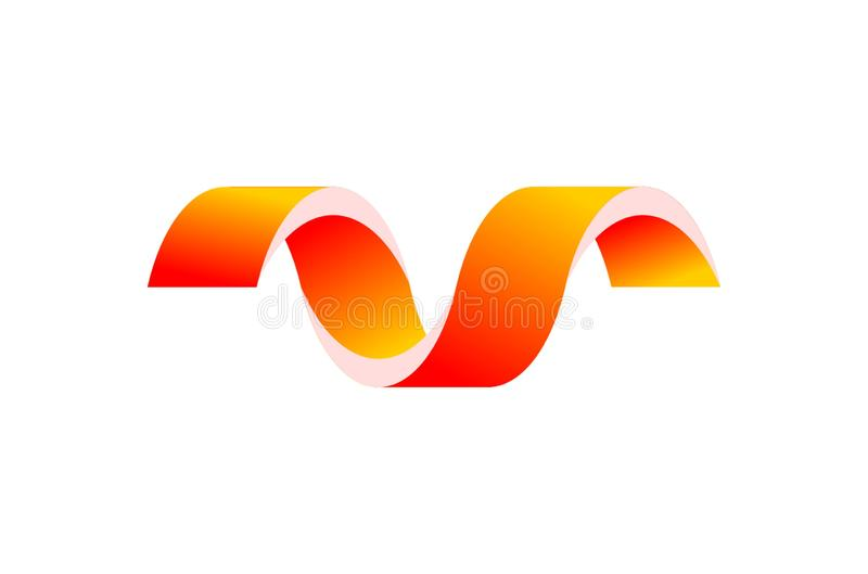 Wervelende geel en oranje lijnen van kleur vector illustratie