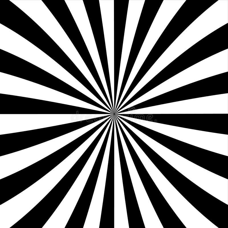 Wervelende radiale achtergrond stock illustratie
