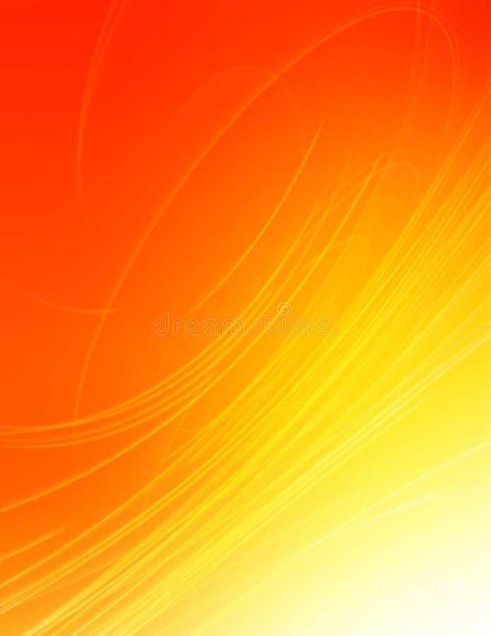 Wervelende stralen stock illustratie