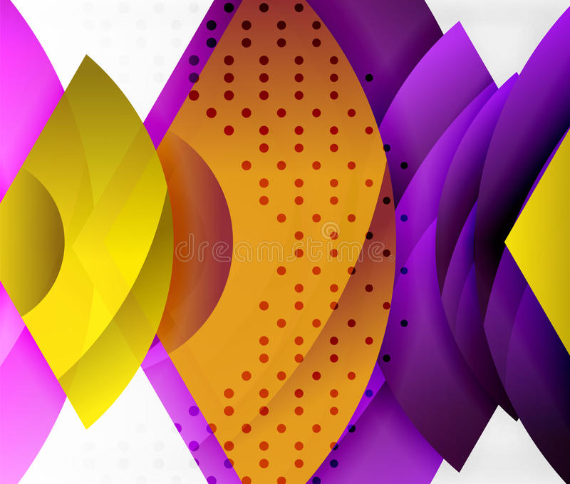 Werveling en golf 3d effect voorwerpen, abstract malplaatje vectorontwerp royalty-vrije illustratie