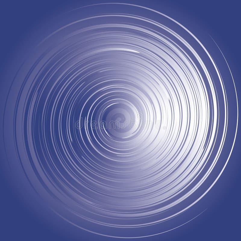 Werveling van blauwe energie stock illustratie
