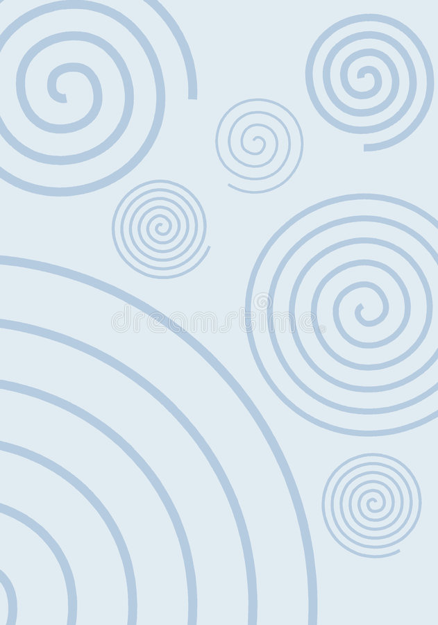 Wervelingen Op Blauw Royalty-vrije Stock Afbeeldingen