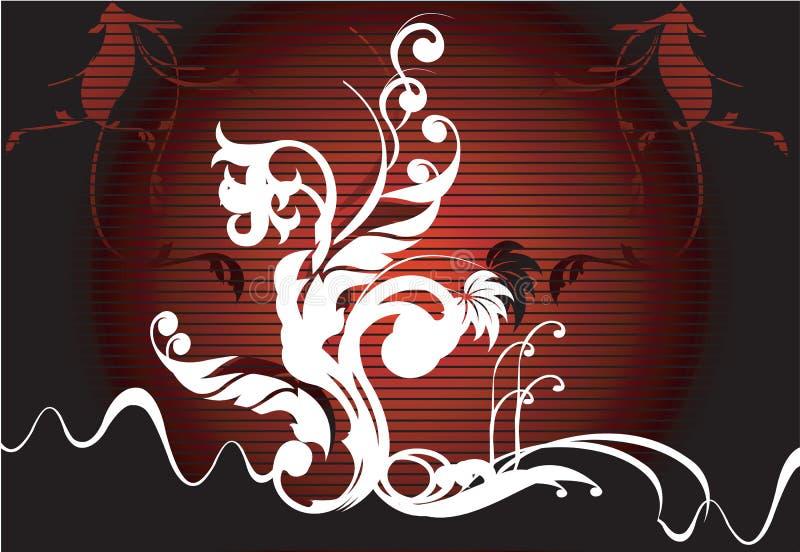 Wervelingen op donkere achtergrond stock illustratie