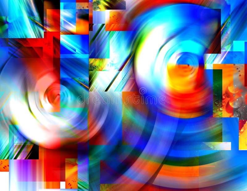 Wervelingen van Kleur stock afbeeldingen