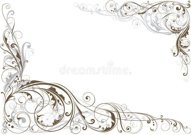 Wervelings bloemenhoek royalty-vrije illustratie
