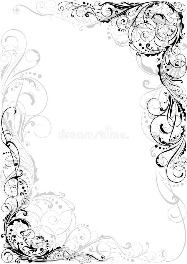 Wervelings zwart en grijs ornament vector illustratie