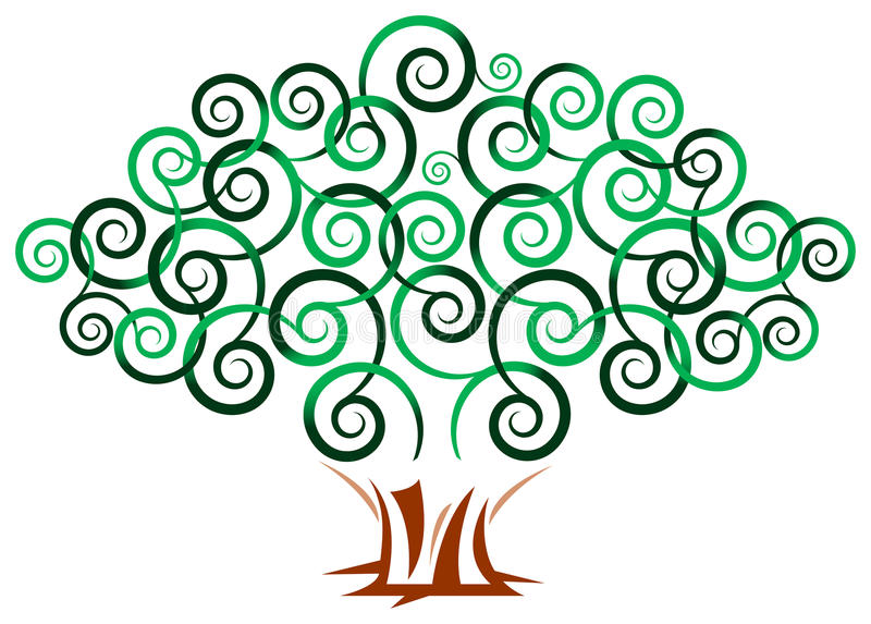 Wervelingsboom stock illustratie