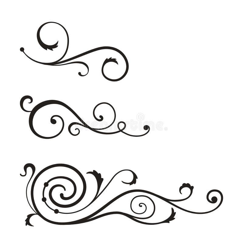 Wervelingselementen voor ontwerp. vector illustratie