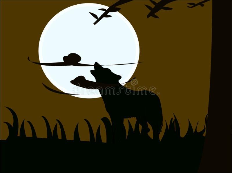 Werwolfschatten stockfoto
