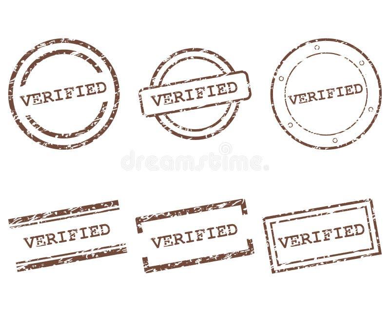 Weryfikować znaczki ilustracji