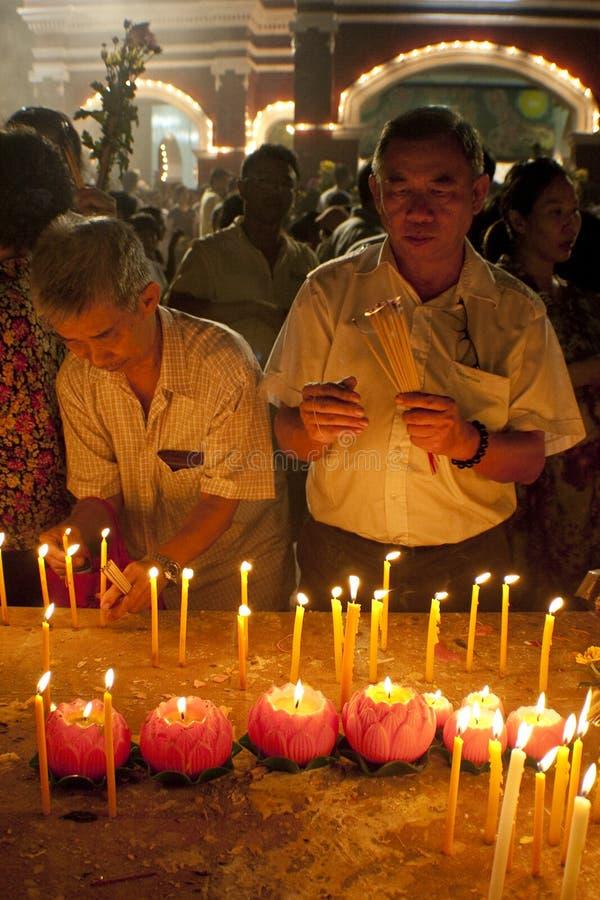Wesak Day At Buddhist Maha Vihara Temple Editorial Stock ...
