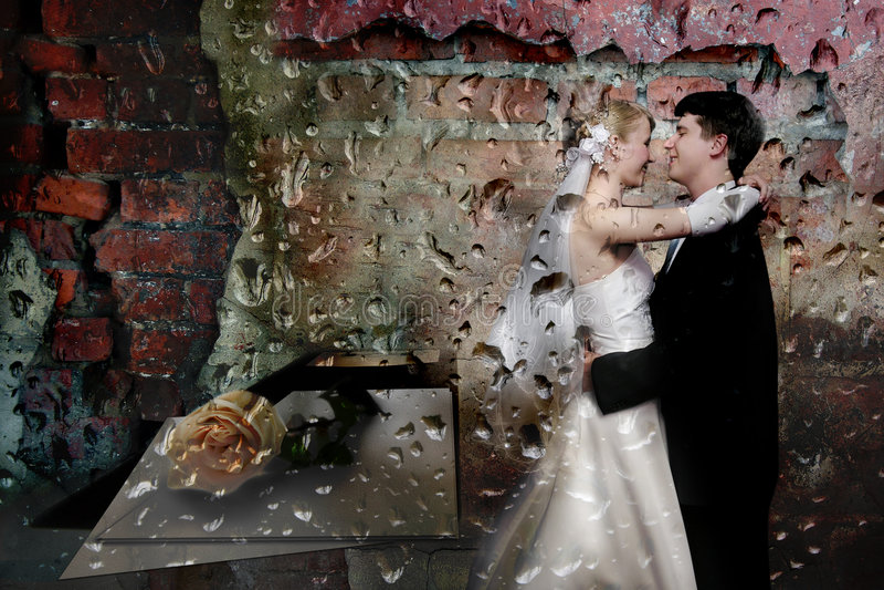 wesele kolaż zdjęcie stock