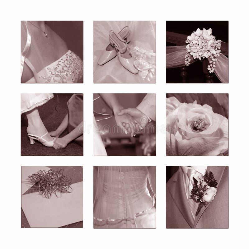 wesele kolaż fotografia royalty free