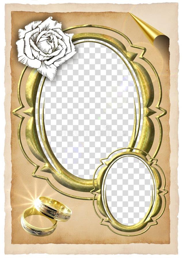wesele ramowy ilustracja wektor