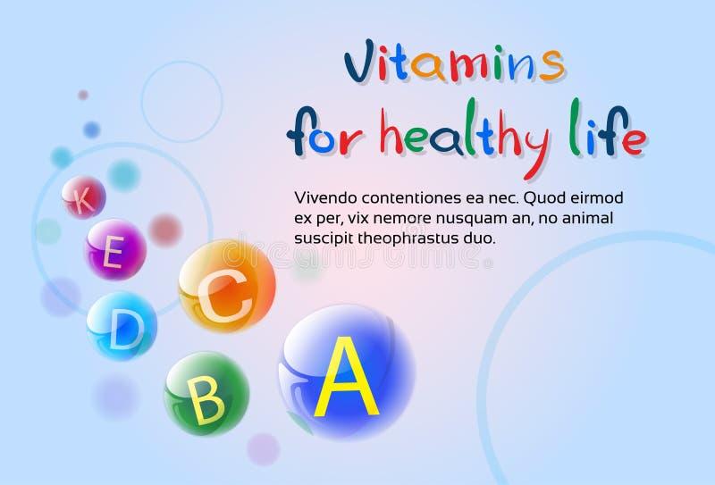 Wesentliche chemische Element-Nährmineral-Vitamine stock abbildung