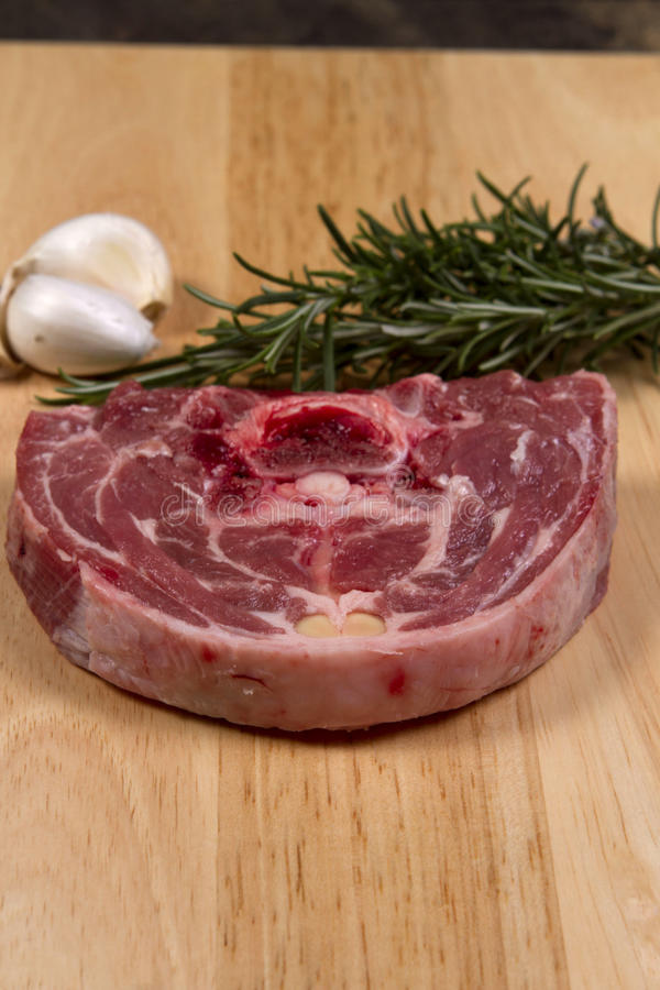 Wesh lamb neck stock photography