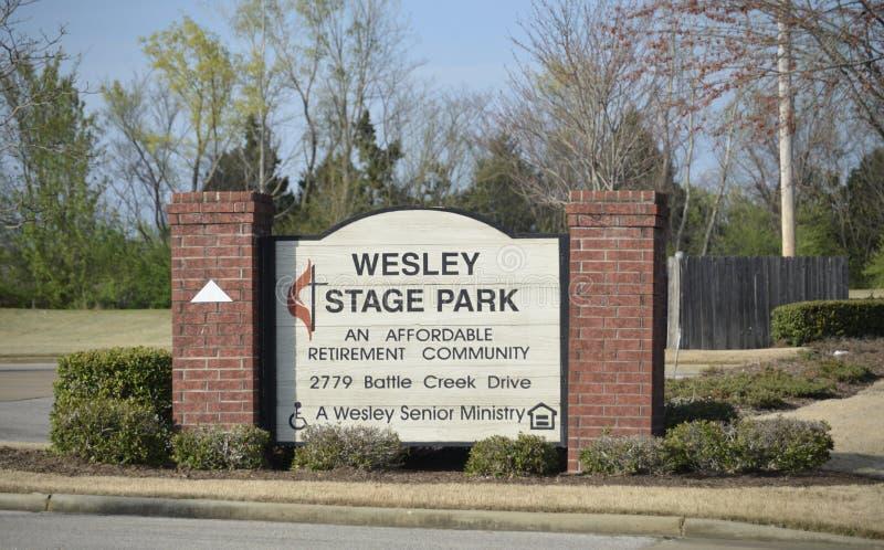Wesley Stage Park Retirement Community, Memphis, TN fotografia stock libera da diritti