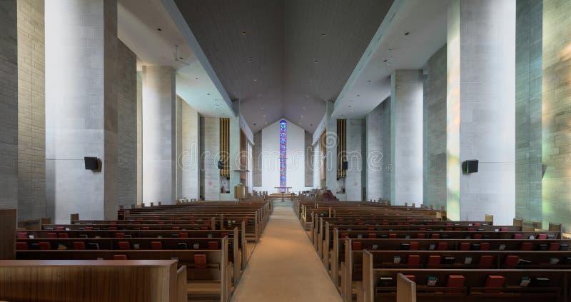 Wesley United Methodist Church-binnenland royalty-vrije stock foto