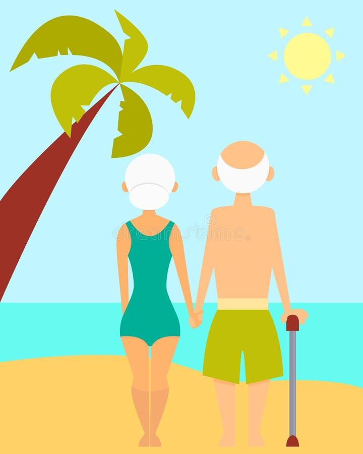 wesołej emerytury ilustracja wektor
