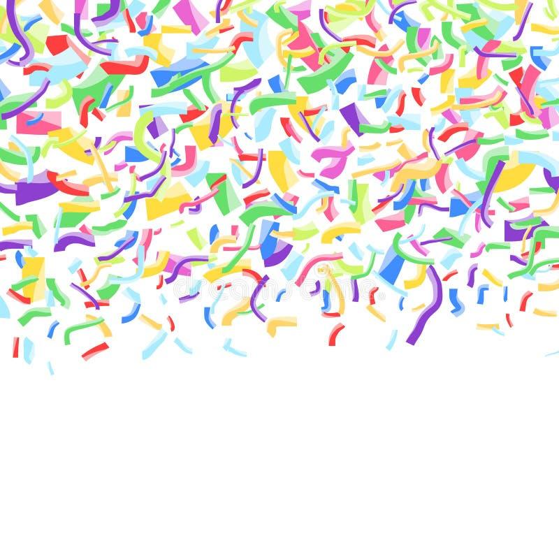 Wesoło abstrakcjonistyczny jaskrawy kolorowy spada confetti tło royalty ilustracja
