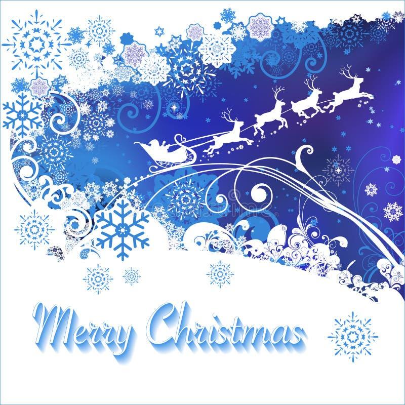 Wesoło boże narodzenia Święty Mikołaj i rogacz karta zdjęcia royalty free