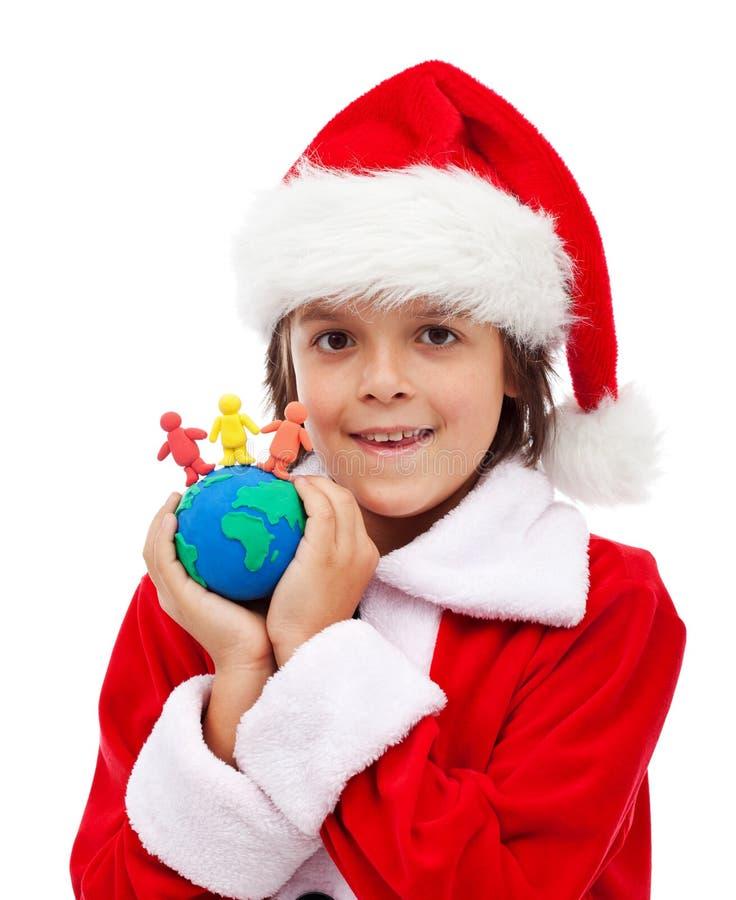 Wesoło boże narodzenia dla wszystkie światowego pojęcia zdjęcie royalty free