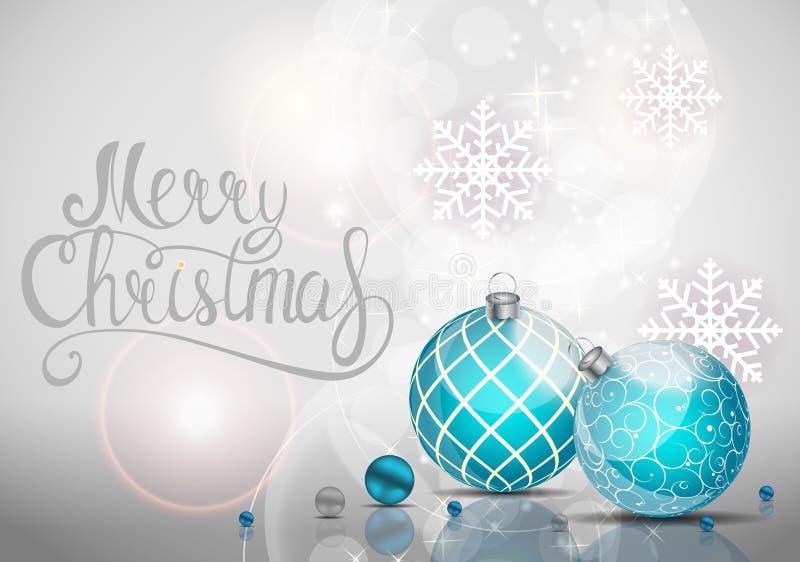 Wesoło boże narodzenia i nowego roku tło również zwrócić corel ilustracji wektora ilustracja wektor