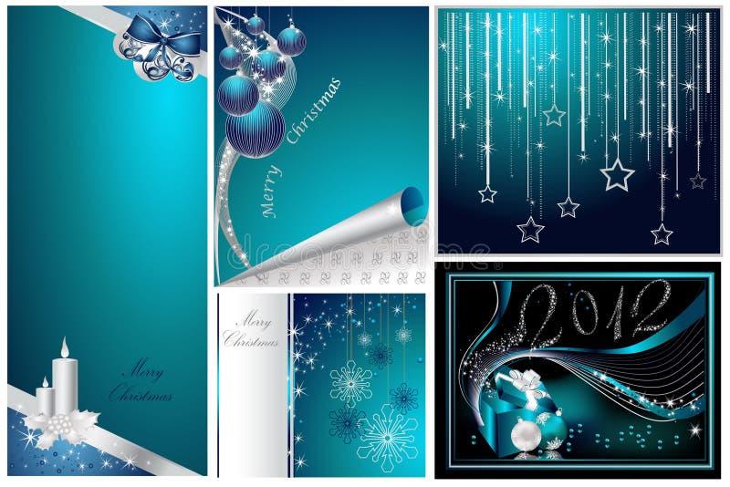Wesoło Boże Narodzenia i Nowy Rok Szczęśliwa kolekcja ilustracji