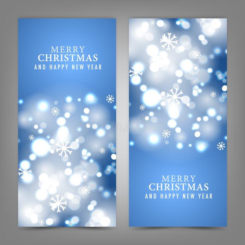Wesoło boże narodzenia i Szczęśliwa nowy rok karta royalty ilustracja