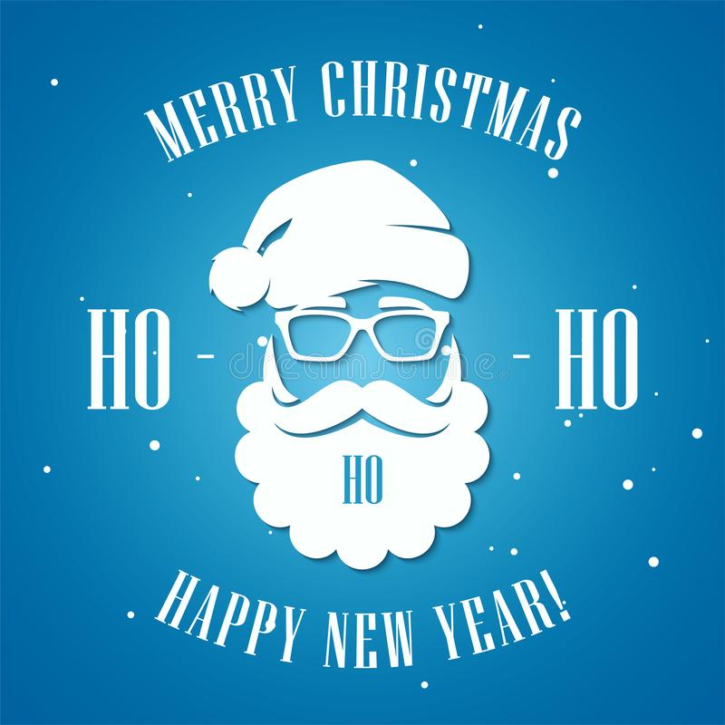 Wesoło boże narodzenia i Szczęśliwy nowego roku kartka z pozdrowieniami z modnisia st ilustracji
