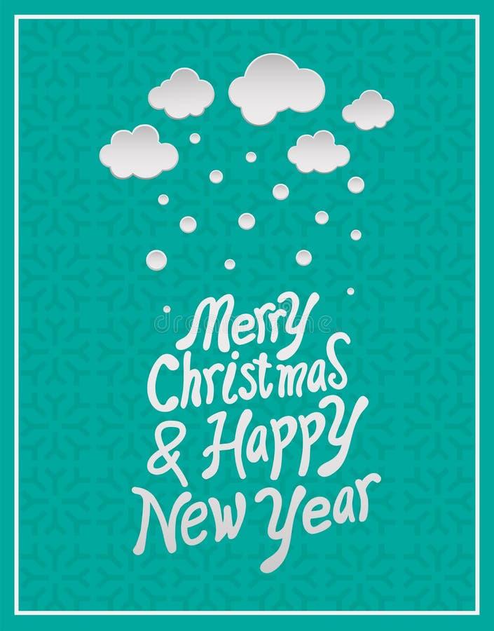 Wesoło boże narodzenia i szczęśliwy nowego roku wektor royalty ilustracja