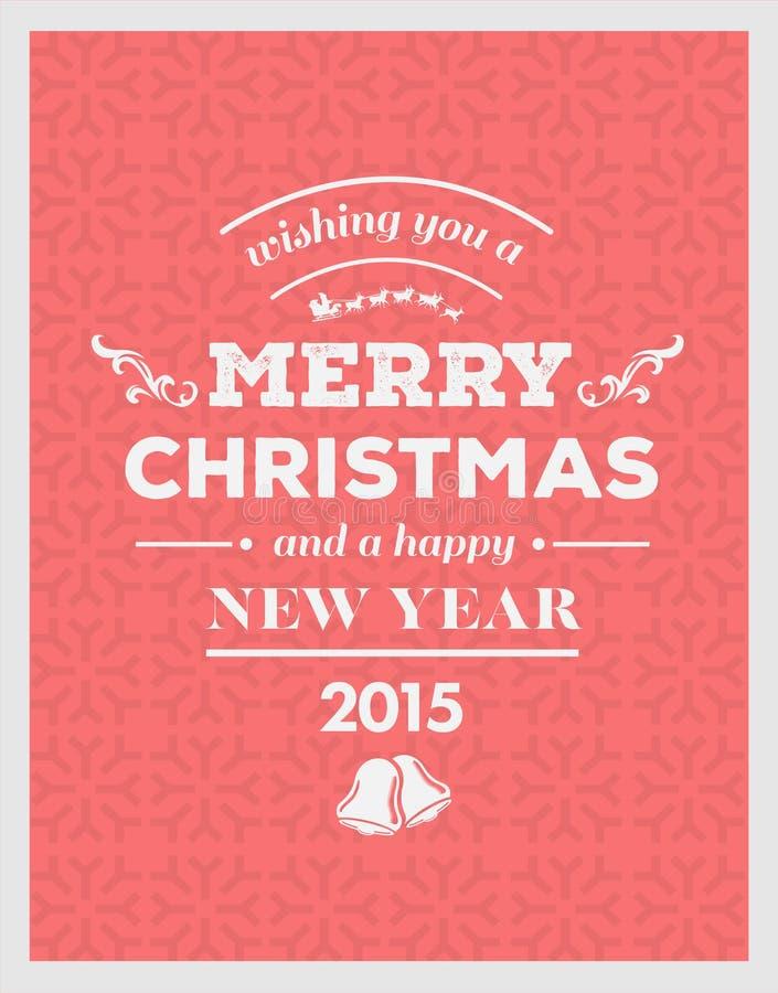 Wesoło boże narodzenia i szczęśliwy nowego roku 2015 wektor ilustracja wektor