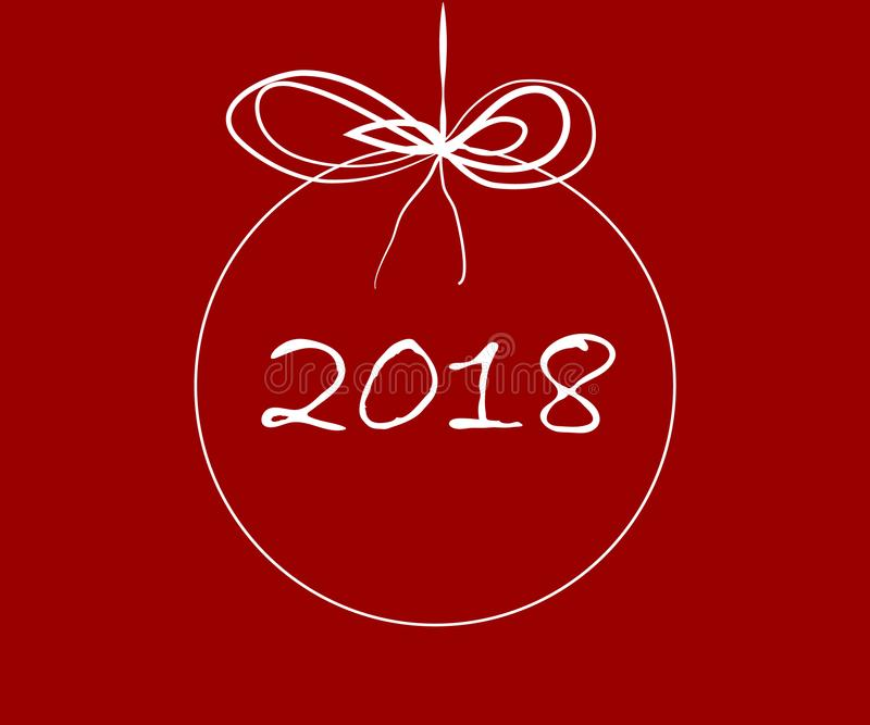 Wesoło boże narodzenia 2018 i szczęśliwy nowy rok ilustracji
