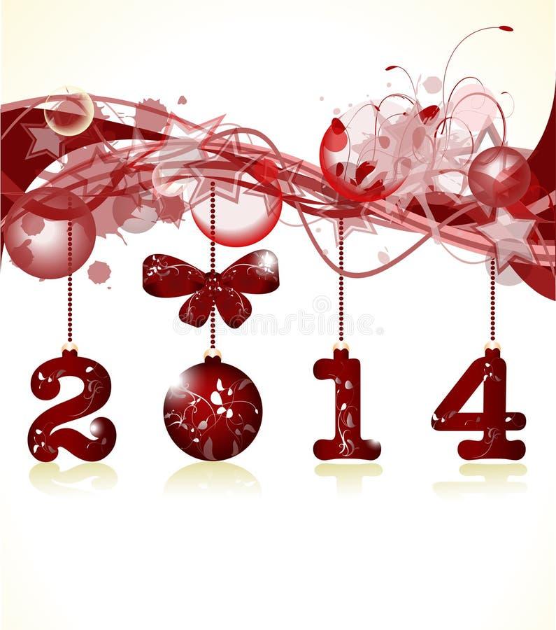 Wesoło boże narodzenia 2014 i Szczęśliwy nowy rok ilustracja wektor