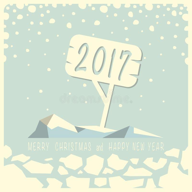 Wesoło boże narodzenia i Szczęśliwy nowy rok ilustracji