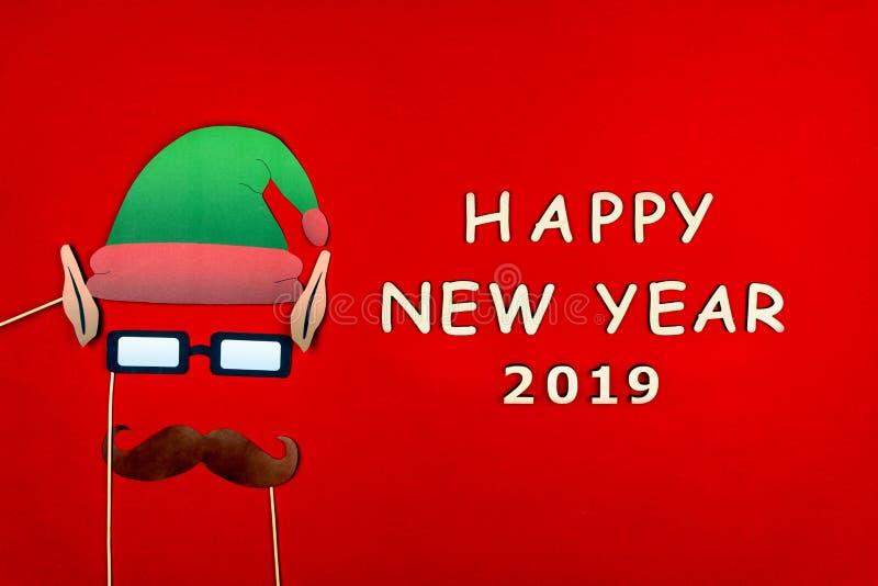 Wesoło boże narodzenia i Szczęśliwy 2019 nowy rok tło obrazy stock