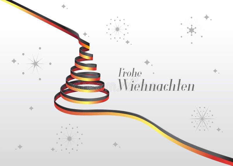 Wesoło boże narodzenia wektorowi z tekstem i ikonami w niemiec royalty ilustracja