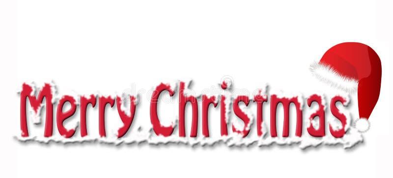 wesoło Boże Narodzenie kapelusz ilustracja wektor