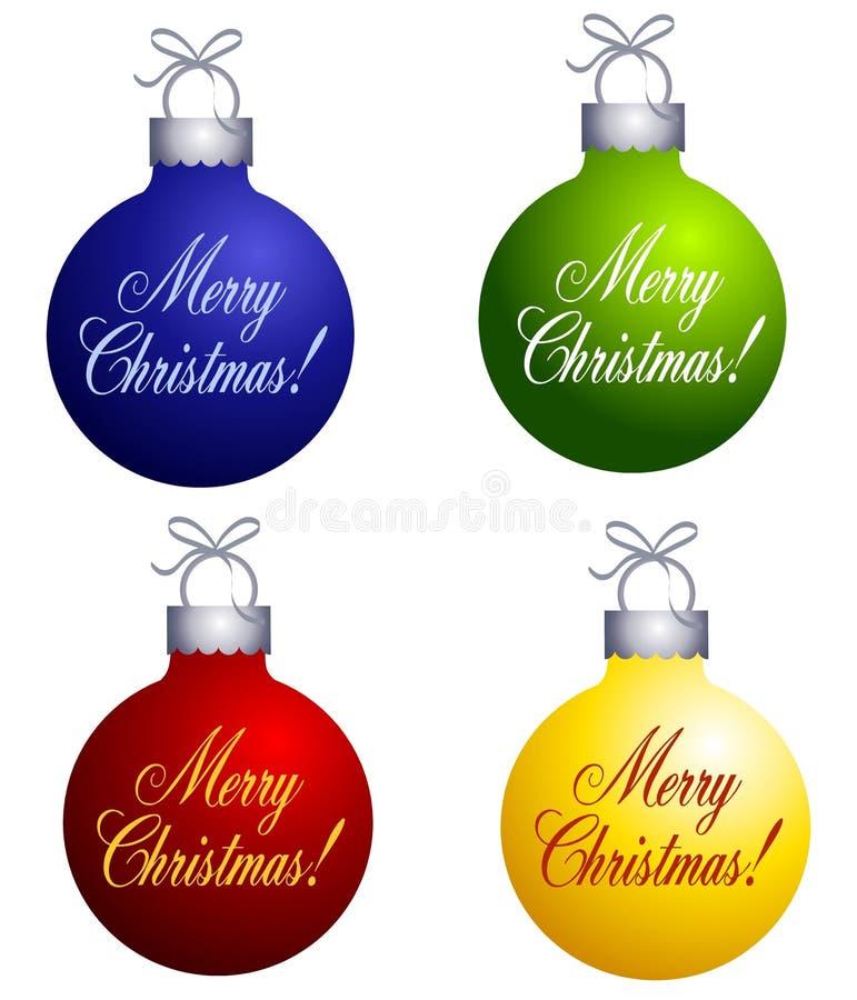 wesoło Boże Narodzenie ornamenty royalty ilustracja