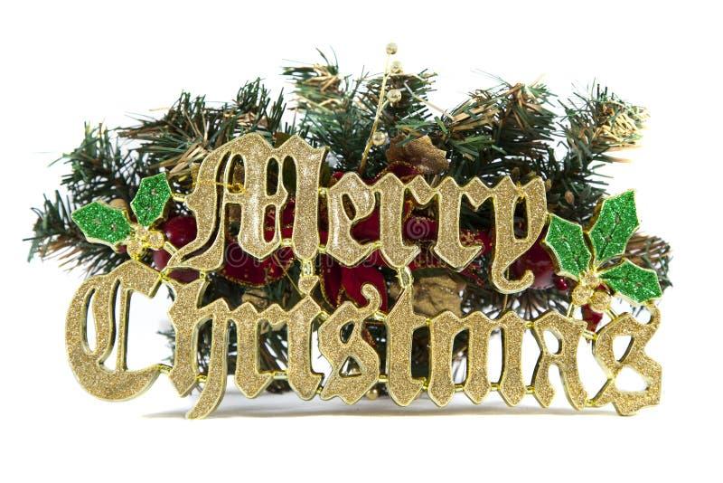 wesoło Boże Narodzenie znak obraz stock