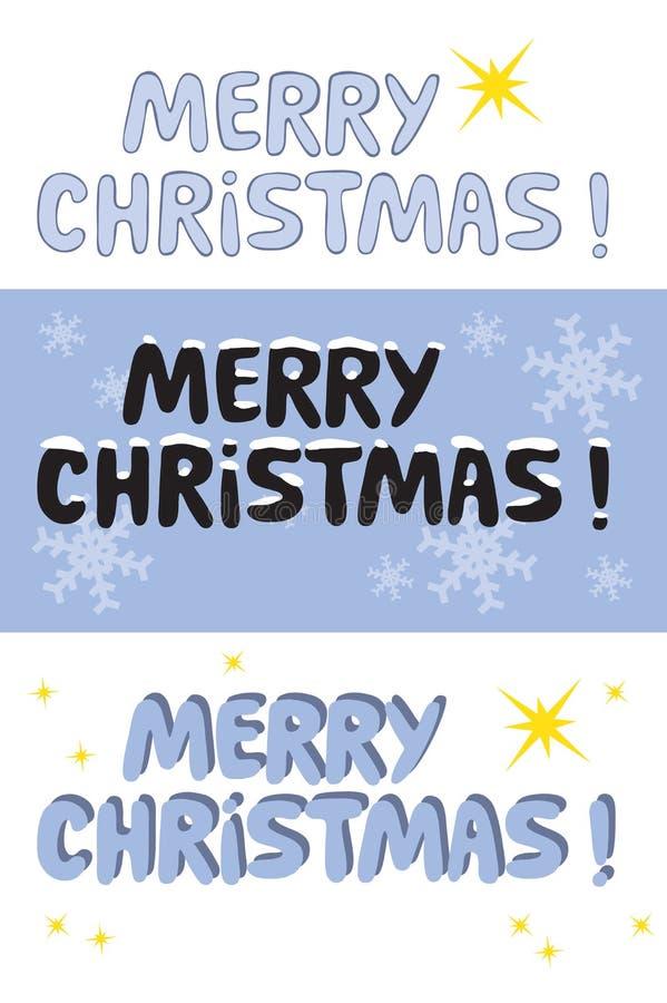 wesoło Boże Narodzenie znak royalty ilustracja