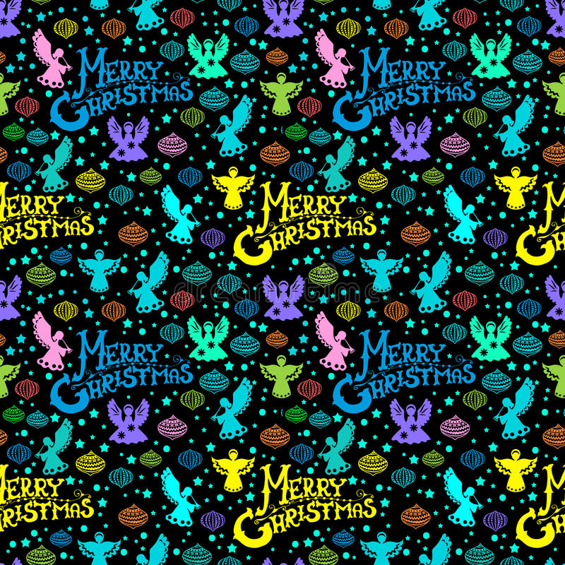 Wesoło Bożych Narodzeń Bezszwowy Wzór Zdjęcia Stock