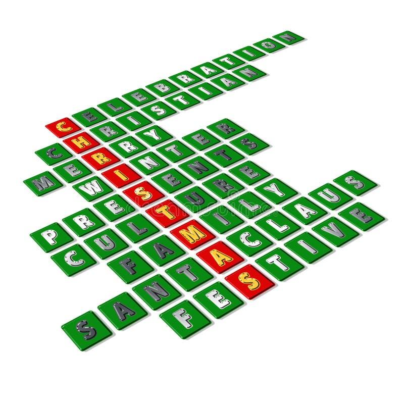 Wesoło Bożych Narodzeń crossword zdjęcie stock