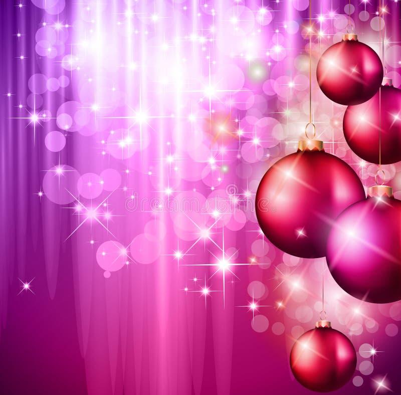 Wesoło Bożych Narodzeń Elegancki Sugestywny Tło ilustracji