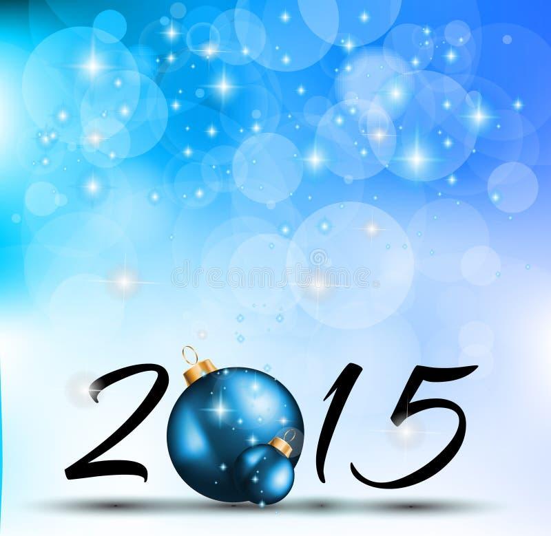 2015 Wesoło bożych narodzeń i szczęśliwego nowego roku tło ilustracja wektor