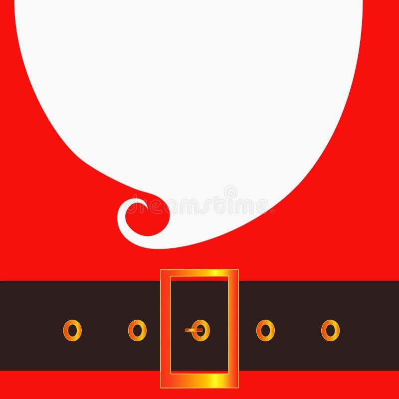 Wesoło bożych narodzeń kartka z pozdrowieniami z Święty Mikołaj Modnisia styl Santa ` s szkła i wąsy Święty Mikołaj broda royalty ilustracja