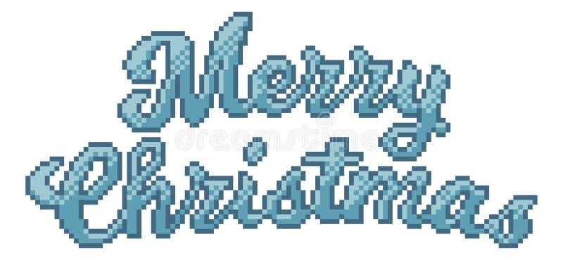 Wesoło bożych narodzeń 8 kawałka piksla sztuki gra wideo styl ilustracja wektor