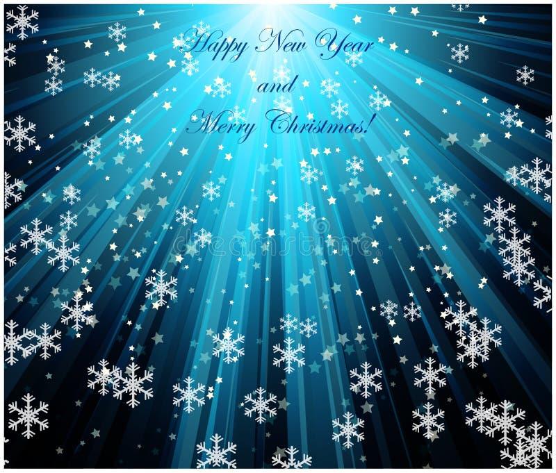 Wesoło bożych narodzeń krajobraz Wektorowy Szczęśliwy nowy rok ilustracja wektor