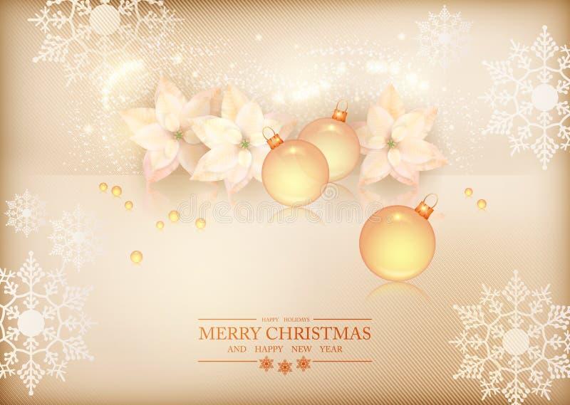 Wesoło bożych narodzeń nowego roku świętowania tło royalty ilustracja