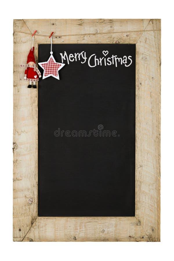 Wesoło bożych narodzeń nowy rok Chalkboard obrazy royalty free